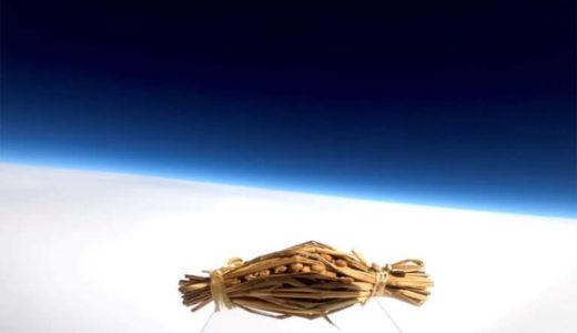 宇宙を背景に水戸納豆の撮影に成功、スペース・バルーン社が宇宙撮影を行うサービスをスタート