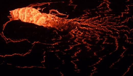 去年12月に噴火したキラウエア山の現在の火山活動の様子をアメリカ地質調査所が公開