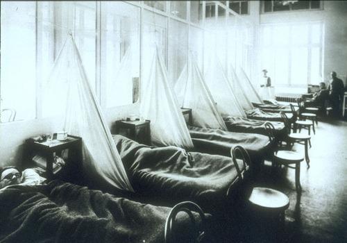 スペイン風邪の病床